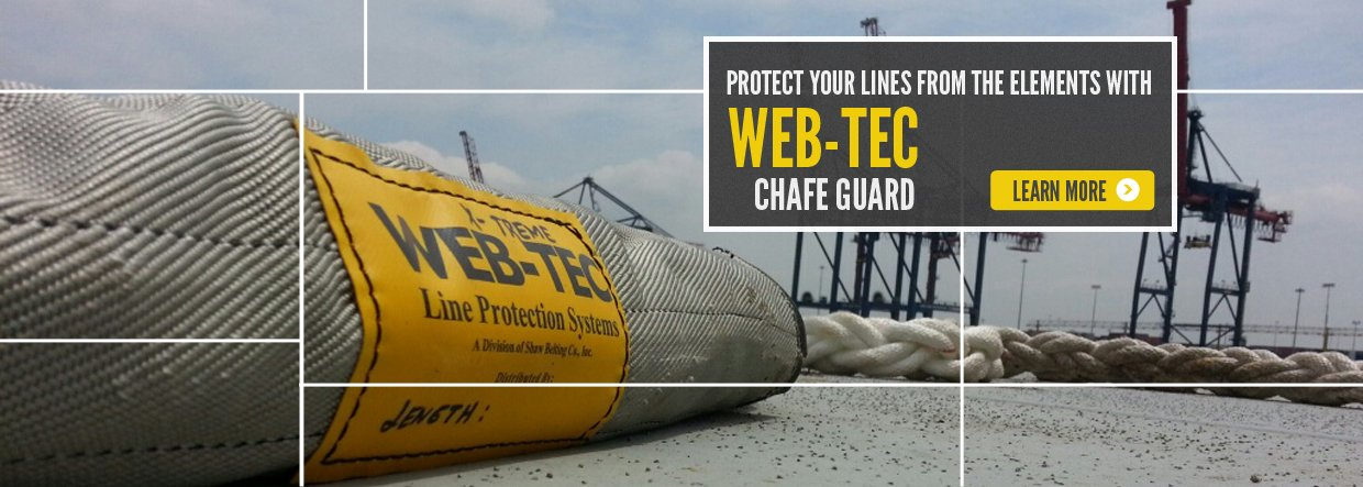 WEB-TEC line protection systems at a marina