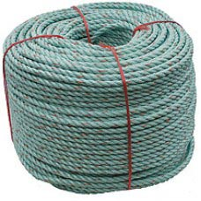 "2-1/4"" 3-STRAND SUPERGREEN MAXIMA ROPE"