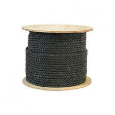 "1/4"" 600' COIL 3-STRAND BLACK POLYPRO ROPE"