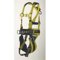 96094BPT FULL BODY HARNESS TOWER WORKING TYPE. 5 D-RINGS. PADDED SEAT, PADDED WAIST WITH TONGUE BUCKLE LEGS