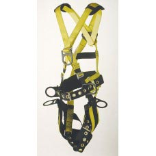 96096BFPT FULL BODY HARNESS TOWER WORKING TYPE. 6 D-RINGS. PADDED SEAT, PADDED WAIST WITH TONGUE BUCKLE LEGS.