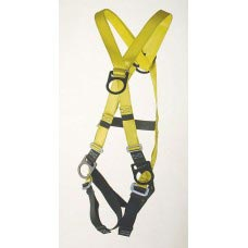 96305F FULL BODY HARNESS, CLIMBING TYPE. D-RING CENTER BACK, FRONT AND ON HIPS
