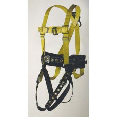 96505NTM FULL BODY HARNESS, MINERS TYPE. D-RING CENTER BACK AND LOWER LUMBAR FOR FALL RESTRAINT. INCLUDES BATTERY AND RESPIRATOR STRAPS