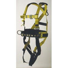 96305WS FULL BODY HARNESS, IRON-WORKER'S TYPE. D-RING CENTER BACK. BACK PAD AND TOOL BELT. PARACHUTE-BUCKLE CONNECTIONS