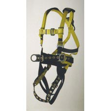 96396B FULL BODY HARNESS, IRON WORKER'S TYPE. BACK PAD AND TOOL BELT. TONGUE BUCKLE CONNECTIONS