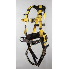 96396BQLMX FULL BODY-HARNESS IRON WORKERS TYPE. BACK PAD AND TOOL BELT. TONGUE BUCKLE LEGS, QUICK RELEASE CHEST CONNECTIONS WITH MINI-X