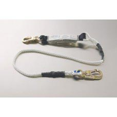 96416 NYLON ROPE LANYARD WITH DOUBLE LOCKING SNAP EACH END AND SHOCK ABSORBING PACK ONE END