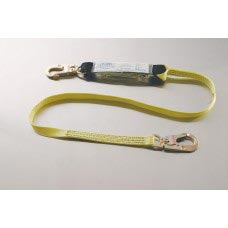 96513 NYLON WEB LANYARD WITH DOUBLE LOCKING SNAP EACH END AND SHOCK ABSORBING PACK ONE END