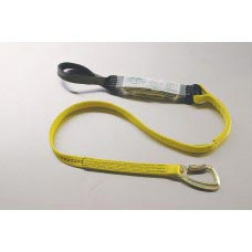 96516LBB SHOCK ABSORBING LANYARD WITH CHOKE BACK HOOK AND LOOP AT SHOCK PACK