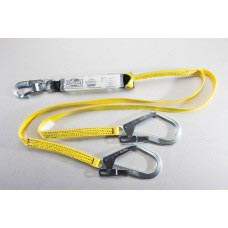 96516YSR SHOCK ABSORBING Y-LANYARD WITH DOUBLE LOCKING SNAP AND REBAR HOOKS