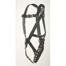 PF-96305FT PILLOW-FLEX HARNESS, CLIMBING TYPE. D-RING CENTER BACK, FRONT AND HIPS. TONGUE BUCKLE CONNECTIONS