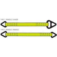 "3"" ONE PLY POLYESTER SLING WITH ALUMINUM TRIANGLE ONE END & ALUMINUM CHOKER OTHER END HEAVY DUTY"