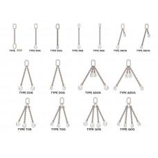 "1/2"" TYPE SOS GR. 100 ALLOY DOMESTIC CHAIN SLING"
