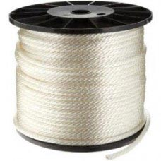 "1/4"" SOLID BRAID WHITE NYLON ROPE"