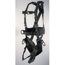 UPF-96096BFQL ULTRA PILLOW-FLEX HARNESS, TOWER WORKING TYPE. 6 D-RINGS. PADDED SEAT, PADDED WAIST , TOOL BELT, PADDED LEG STRAP AND QUICK RELEASE BUCKLES