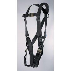 UPF-96305QL ULTRA PILLOW-FLEX HARNESS, POSITIONING TYPE. D-RING CENTER BACK AND ON EACH HIP, PADDED LEG STRAP AND QUICK RELEASE BUCKLES