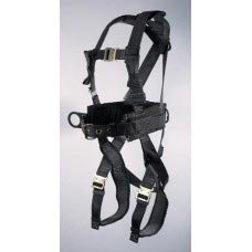 UPF-96305WSQL ULTRA PILLOW-FLEX HARNESS, IRON WORKER'S TYPE. D-RING CENTER BACK, BACK PAD, TOOL BELT, PADDED  LEG STRAP AND QUICK RELEASE BUCKLES