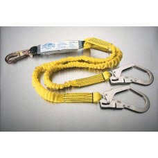 US-96516YSR ULTRA-STRETCH SHOCK ABSORBING Y-LANYARD WITH LARGE REBAR HOOKS