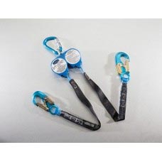 US-HPSY8 WEB RETRACTABLE Y-LANYARDS WITH NEW SWIVEL TOP AND CARABINERS WITH 3600 LB GATE HOOKS