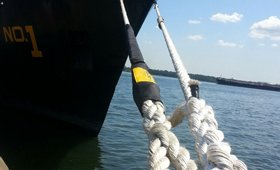 WEB-TEC chafe guard used in Mooring