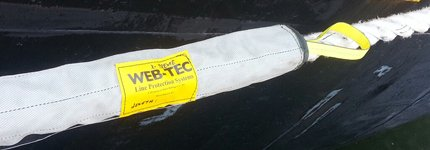 WEB-TEC chafe gear used as handles for pulling/securing