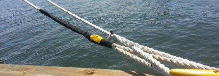 WEB-TEC chafe guard tapered over splice