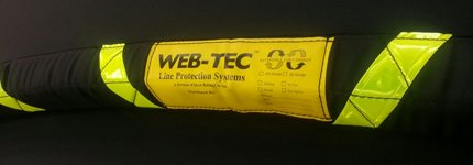 WEB-TEC chafe guard with reflective tape for mooring buoy